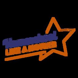 Homeschool wie Mutter Schriftzug Banner Star