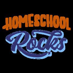 Letras de rocas de escuela en casa