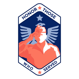 Honor those served veteran badge