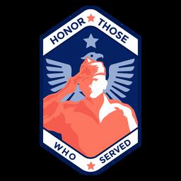 Honra a los veteranos con insignia