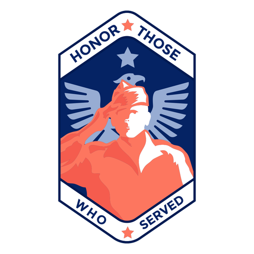 Honor those served veteran badge