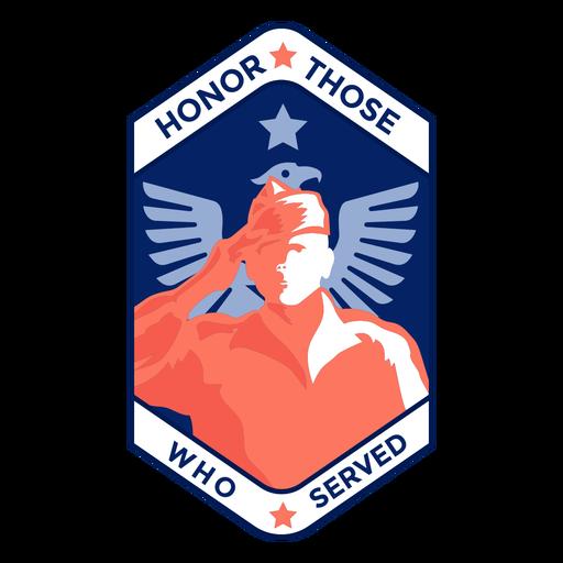 Honrar a los que recibieron la insignia de veterano