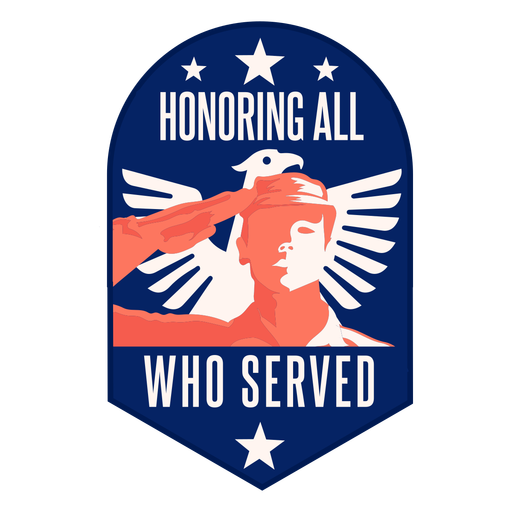 Honor veteran salue eagle wing badge