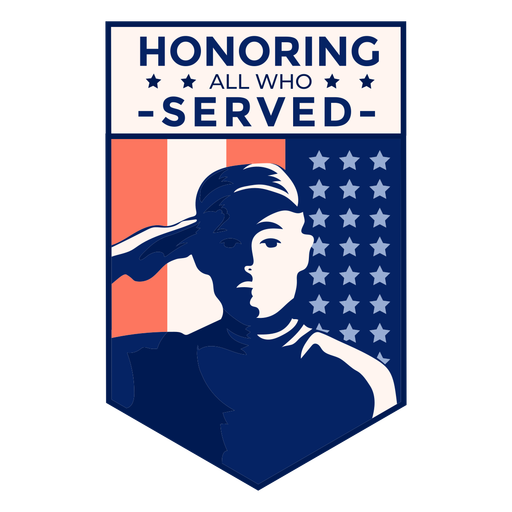 Honor veteran usa flag badge