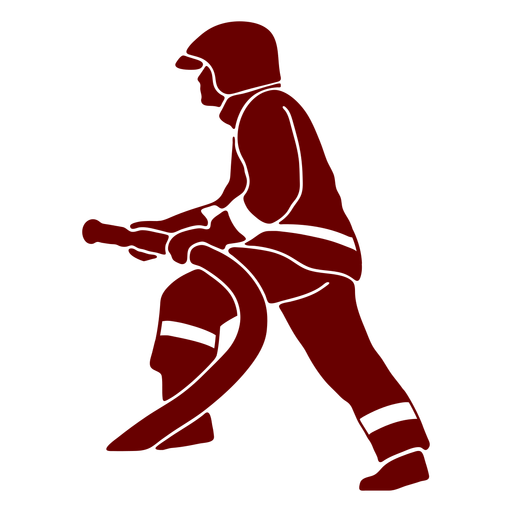 Hose profile firefighter silhouette Transparent PNG
