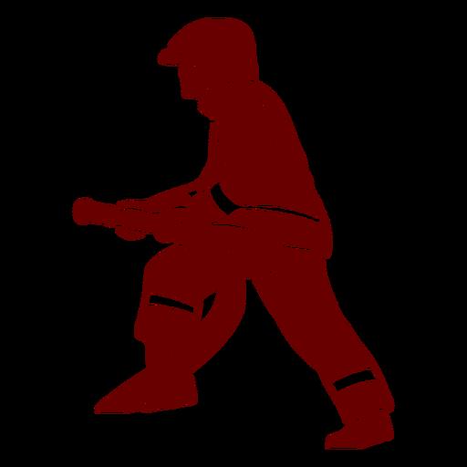 Hose profile firefighter silhouette