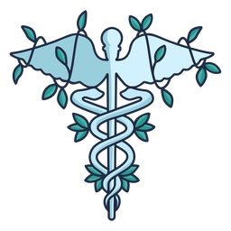 Hospital snake staff caduceus symbol