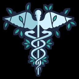 Símbolo del caduceo del personal de la serpiente del hospital