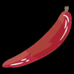 Símbolo plano rojo pimiento picante