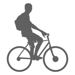Idle cyclist silhouette