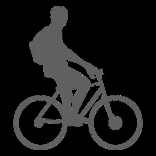 Silueta de ciclista inactivo