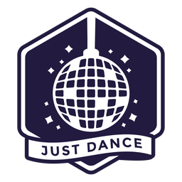 Just dancing disco ball hexagon badge