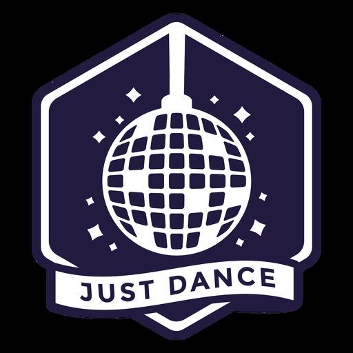 Just dancing disco ball hexagon badge