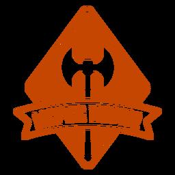 Larping master axe badge