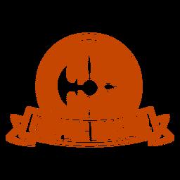 Larping master axe banner badge