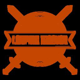 Larping master sword shield badge