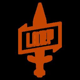 Larping sword banner badge