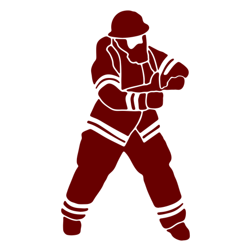 Mask firefighter silhouette