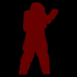 Máscara gesto de silhueta de bombeiro