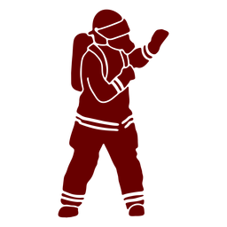 Máscara gesto silueta de bombero