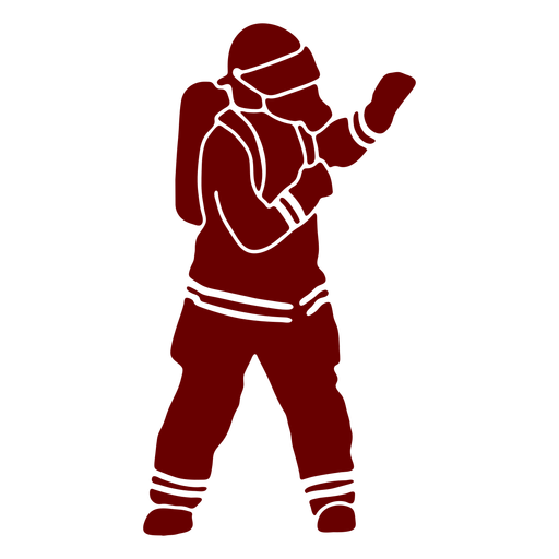 Mask gesture firefighter silhouette Transparent PNG