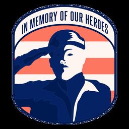 Distintivo de memória dos nossos heróis