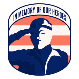 Memory of our heroes badge