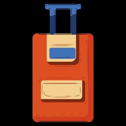 Ilustración de equipaje de mano naranja