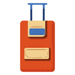 Orange carry on luggage illustration