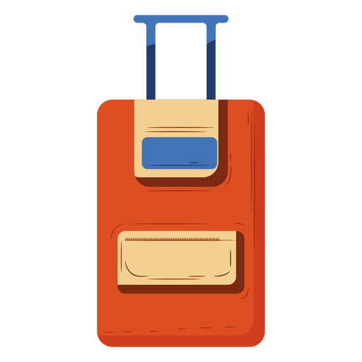 Orange carry on luggage illustration Transparent PNG