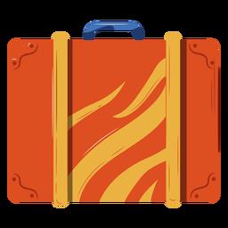 Ilustración de equipaje naranja