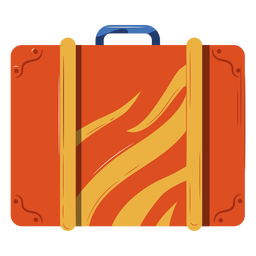 Orange luggage illustration