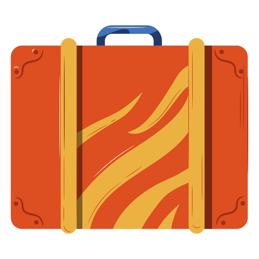 Orange luggage illustration Transparent PNG