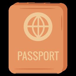 Orange passport icon illustration