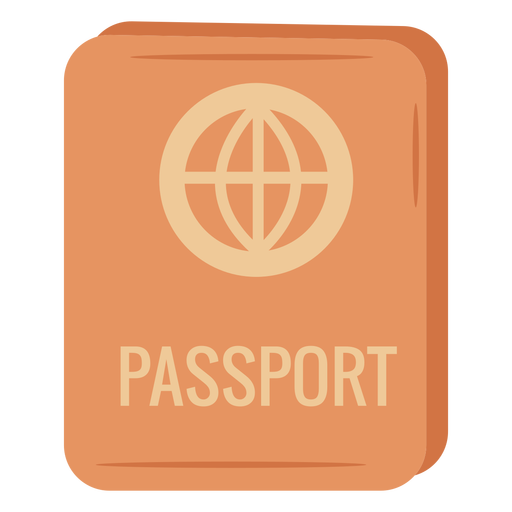 Ilustración de icono de pasaporte naranja