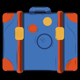 Ilustración de equipaje azul ornage