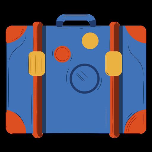 Ornage blue luggage illustration Transparent PNG
