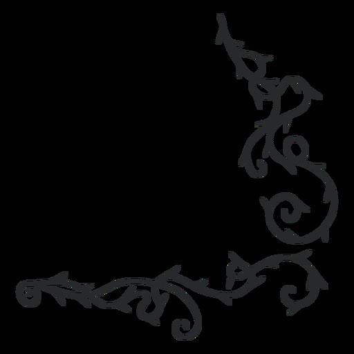 Ornamental swirl thorn border stroke