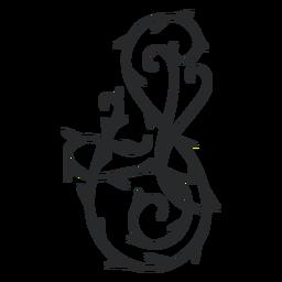 Curso de espinho de redemoinho ornamental