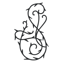 Golpe de espina de remolino ornamental