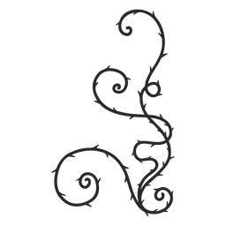 Ornamental thorn swirl stroke