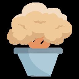 Icono de arbusto arbusto planta en maceta plana