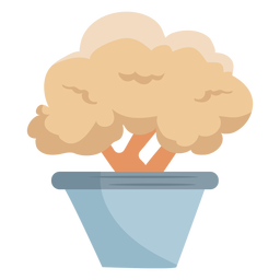 Potted plant bush shrub icon flat