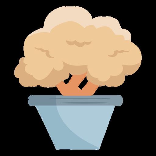 Planta en maceta arbusto arbusto icono plano