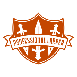 Professional larper swords badge