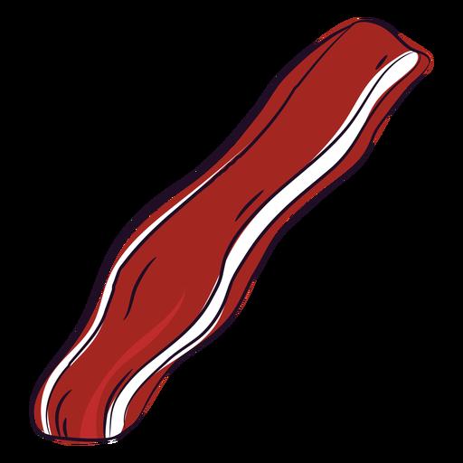 Tocino rojo dibujado a mano icono plano