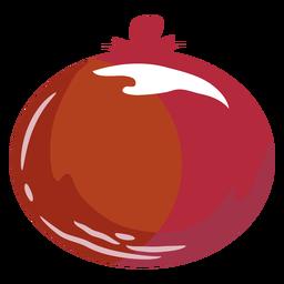 Símbolo plano de cebola vermelha