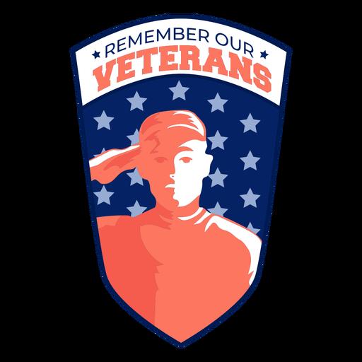 Remember vetern star spangled badge