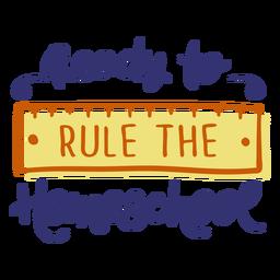 Regla de letras de educación en el hogar