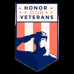 Saludo honor insignia de veterano